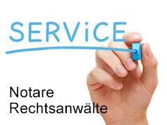 Unser Service für Notare und Rechtsanwälte-