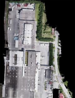 Hochauflösende Luftbilder und Orthofotos-Hochauflösendes Luftbild eines 14ha großen Logistikunternehmens